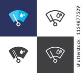 wiper icons 2018 | Shutterstock .eps vector #1134877529