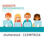 group of creative young people... | Shutterstock .eps vector #1134878216