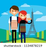 happy smiling couple taking... | Shutterstock .eps vector #1134878219
