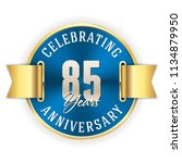 blue celebrating 85 years ... | Shutterstock .eps vector #1134879950