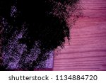 ultra purple postcard sample ... | Shutterstock . vector #1134884720