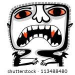 little vampire in white background - stock vector