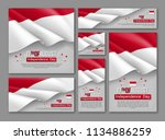 indonesian independence day... | Shutterstock .eps vector #1134886259