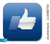 thumbs up button   like button  ... | Shutterstock .eps vector #113488750