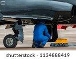 aircraft engineer working in... | Shutterstock . vector #1134888419
