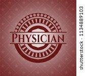 physician vintage red emblem | Shutterstock .eps vector #1134889103