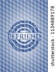 befriend blue emblem with...   Shutterstock .eps vector #1134889178