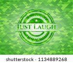 just laugh realistic green...   Shutterstock .eps vector #1134889268