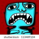 little blue vampire - stock vector