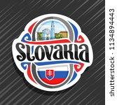 vector logo for slovakia... | Shutterstock .eps vector #1134894443
