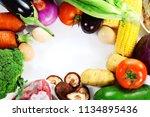 mixed vegetables image | Shutterstock . vector #1134895436