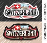 vector logo for switzerland... | Shutterstock .eps vector #1134895466