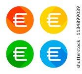 euro symbol  simple icon. flat...