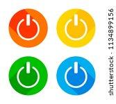 shut down  power. flat white... | Shutterstock .eps vector #1134899156