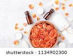 essential oil bottle  rose... | Shutterstock . vector #1134902300