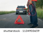 low car battery charge. need... | Shutterstock . vector #1134903659