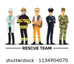 Rescue Team  Vector...
