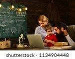 final exam test in university ... | Shutterstock . vector #1134904448