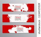 set of red paint  ink brush... | Shutterstock .eps vector #1134915539