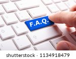 faq or frequently asked... | Shutterstock . vector #1134918479