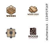 wood logo design | Shutterstock .eps vector #1134919169