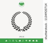 laurel wreath   design symbol | Shutterstock .eps vector #1134920714