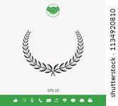 laurel wreath. element for yor... | Shutterstock .eps vector #1134920810