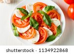 close up photo of caprese salad ... | Shutterstock . vector #1134922868