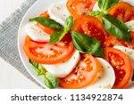 close up photo of caprese salad ... | Shutterstock . vector #1134922874