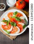 close up photo of caprese salad ... | Shutterstock . vector #1134922880