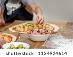 master class for kids in the... | Shutterstock . vector #1134924614