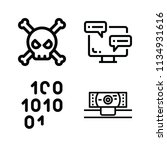 outline set of 4 computer icons ... | Shutterstock . vector #1134931616