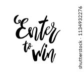 enter to win  giveaway... | Shutterstock .eps vector #1134932276