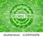calorie free green mosaic emblem | Shutterstock .eps vector #1134932696