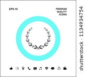 laurel wreath symbol | Shutterstock .eps vector #1134934754