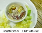salt crab and minced pork with ... | Shutterstock . vector #1134936050