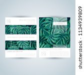 set of trendy greenery party...   Shutterstock .eps vector #1134939809