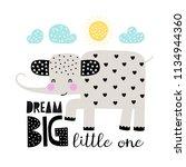 cute cartoon elephant. childish ... | Shutterstock .eps vector #1134944360