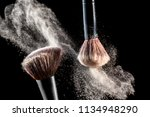 make up cosmetic brushes with... | Shutterstock . vector #1134948290