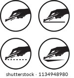 cutter handle icons. vector.... | Shutterstock .eps vector #1134948980