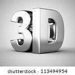 3d silver symbol on white... | Shutterstock . vector #113494954