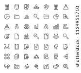 statistics icon set. collection ... | Shutterstock .eps vector #1134951710