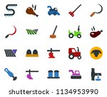 colored vector icon set   field ... | Shutterstock .eps vector #1134953990