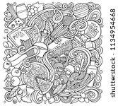 cartoon vector doodles italian... | Shutterstock .eps vector #1134954668