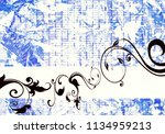 floral background design | Shutterstock . vector #1134959213