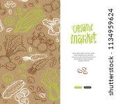 organic market vector concept... | Shutterstock .eps vector #1134959624