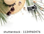 flat lay composition with... | Shutterstock . vector #1134960476