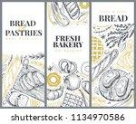 bakery top view design... | Shutterstock .eps vector #1134970586