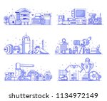 people interests and occupation ... | Shutterstock .eps vector #1134972149