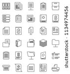 thin line vector icon set  ... | Shutterstock .eps vector #1134974456